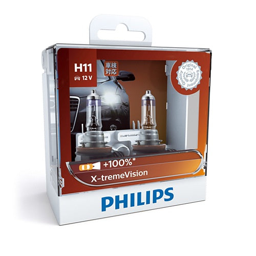 Philips X-tremeVision Headlight Bulb 12362XV H11 12V 55W (Pair)