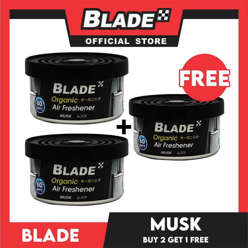 Blade Organic Air Freshener Musk 36g. Buy 2 Take 1 Free