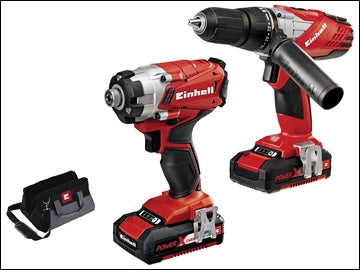 Power-X-Change Combi & Impact Driver Twin Pack 18 Volt 2 x 1.5Ah Li-Ion