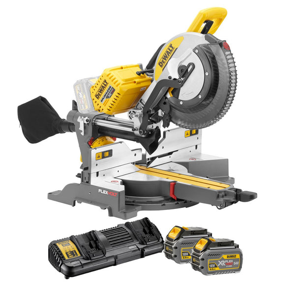 DHS780T2 FlexVolt XR Brushless Mitre Saw 305mm 18/54V 2 x 6.0/2.0Ah Li-ion