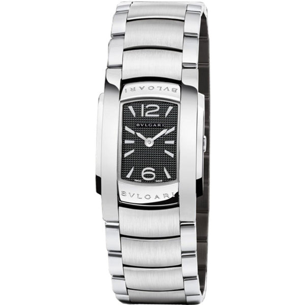Bulgari Ladies Assioma 101698 AA35BSS Stainless Steel 35mm Black Dial Ladies Watch