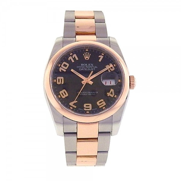 Rolex Datejust 116201 18k Rose Gold & Stainless Steel Automatic Men's Watch