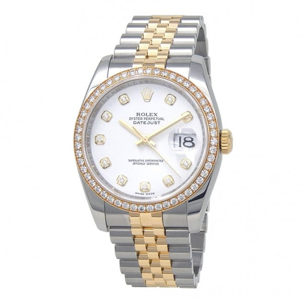 Rolex Datejust 18k Yellow Gold & Stainless Steel Automatic Men's Watch 116243 - ChronoNation