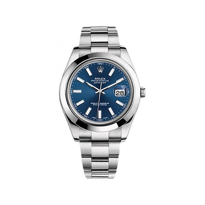 Rolex Datejust II 116300 Stainless Steel Automatic Blue Dial Mens Watch - ChronoNation
