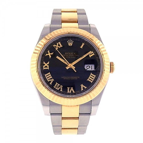 Rolex Datejust II 116333 18k Yellow Gold and Stainless Steel Automatic Watch - ChronoNation
