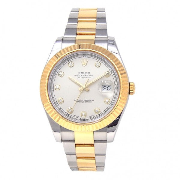 Rolex Datejust II 18k Yellow Gold & Stainless Steel Automatic Men's Watch 116333 - ChronoNation