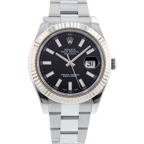 Rolex Datejust II 116334 18k White Gold & Stainless Steel Oyster Automatic Men's Watch