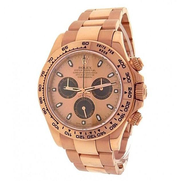 Rolex Daytona 116505 18K Rose Gold Chronograph Champagne Men's Watch