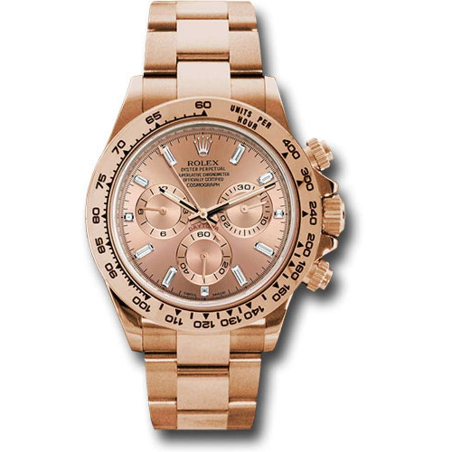 Rolex Daytona 116505 18K Rose Gold Chronograph Pink Dial Men's Watch