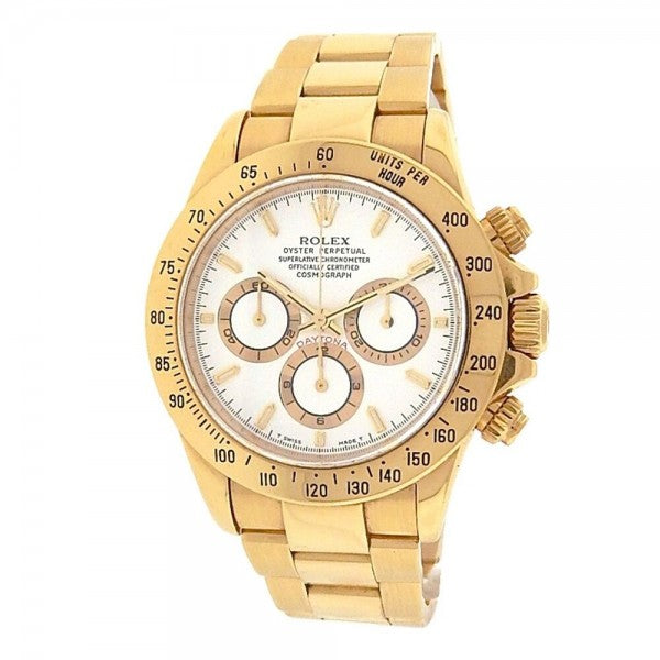 Rolex Daytona 116528 18K Yellow Gold White Dial Automatic Cosmograph Men's Watch