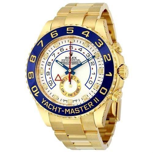 Rolex Yacht-Master II  116689 18K White Gold Oyster Platinum Bezel Mens Watch