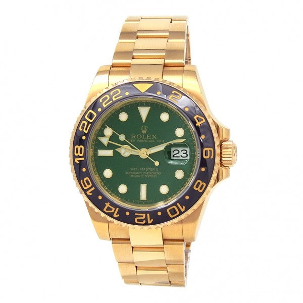Rolex GMT-Master II 116718BKSO 18k Yellow Gold Automatic Men's Watch