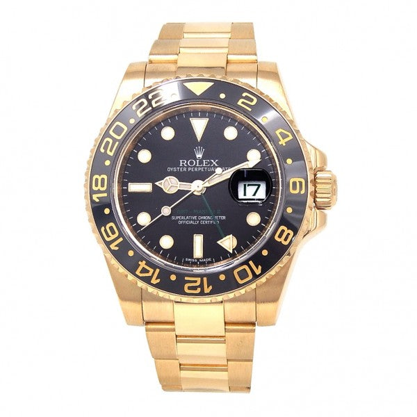 Rolex GMT Master II 18k Yellow Gold Automatic Men's Watch 16718