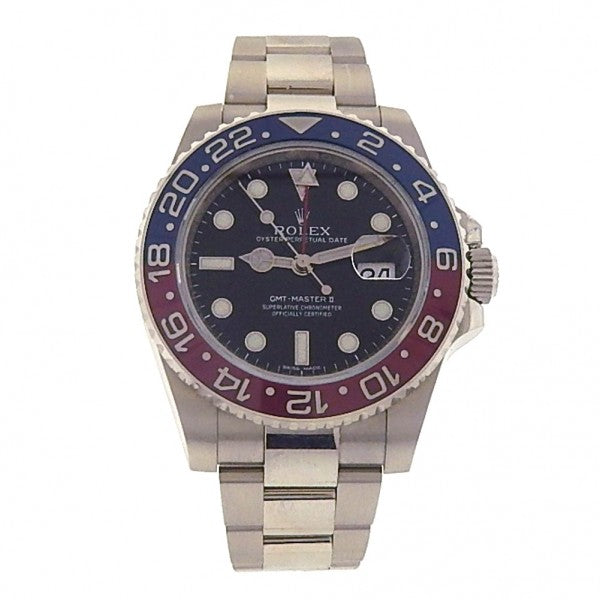 Rolex GMT Master II 116719BLRO 18k White Gold Oyster Automatic Black Men's Watch