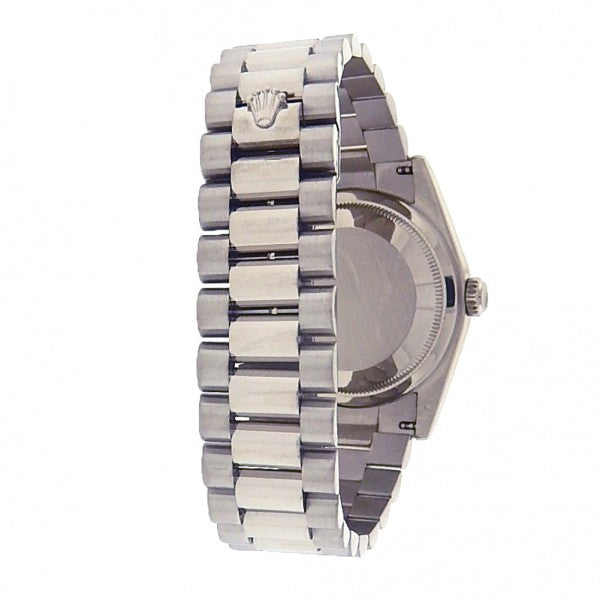 Rolex Day-Date President 118209 White Gold Automatic Diamonds Black Men's Watch - ChronoNation