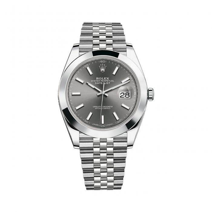 Rolex Datejust II 126300RSJ Stainless Steel Jubilee Automatic Dark Rhodium Dial Mens Watch