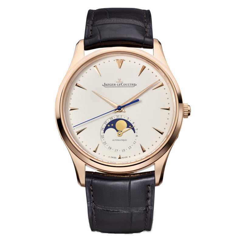 Jaeger Lecoultre Master Ultrathin Moonphase 18K Rose Gold Automatic Men's Watch 1362520