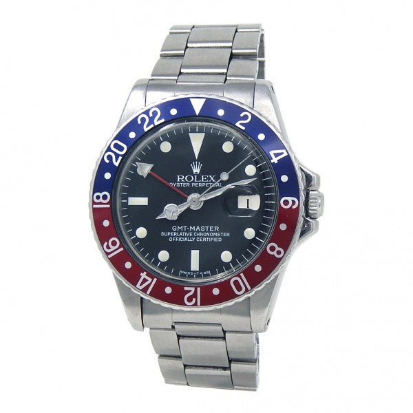 "Rolex Vintage GMT-Master ""Pepsi"" Stainless Steel Automatic Men's Watch 1675"