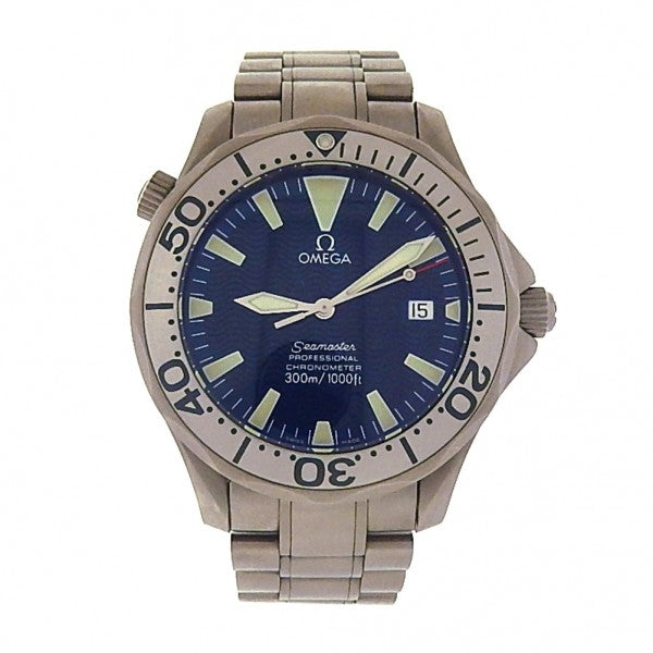 Omega Seamaster 2232.80.00 Titanium Automatic Blue Men's Watch - ChronoNation