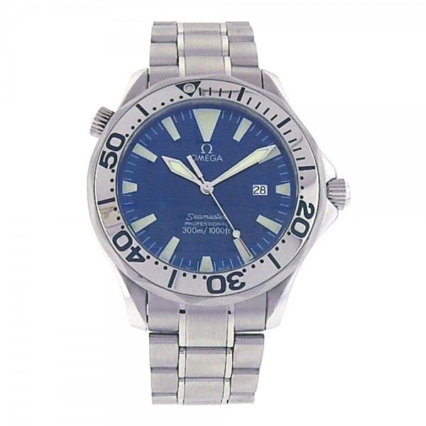 Omega Seamaster 2232.80.00 Titanium Automatic Blue Men's Watch