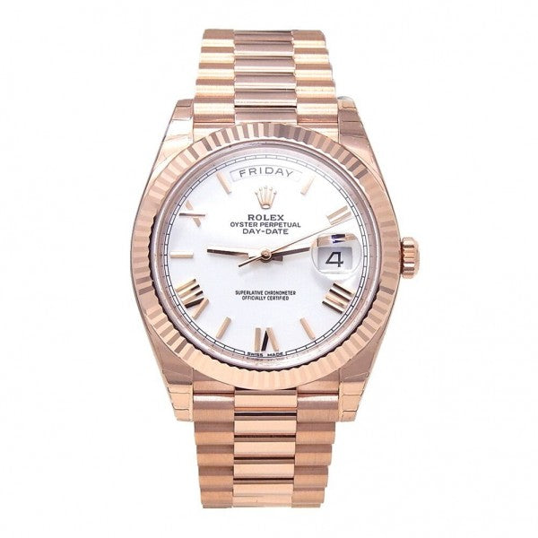 Rolex Day-Date President 228235 18k Rose Gold Automatic Men's Watch - ChronoNation