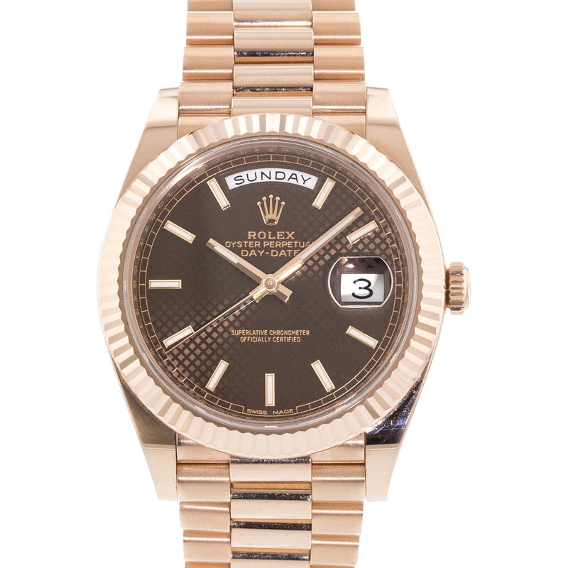 Rolex Day-Date President 228235 18k Rose Gold Automatic Men's Watch