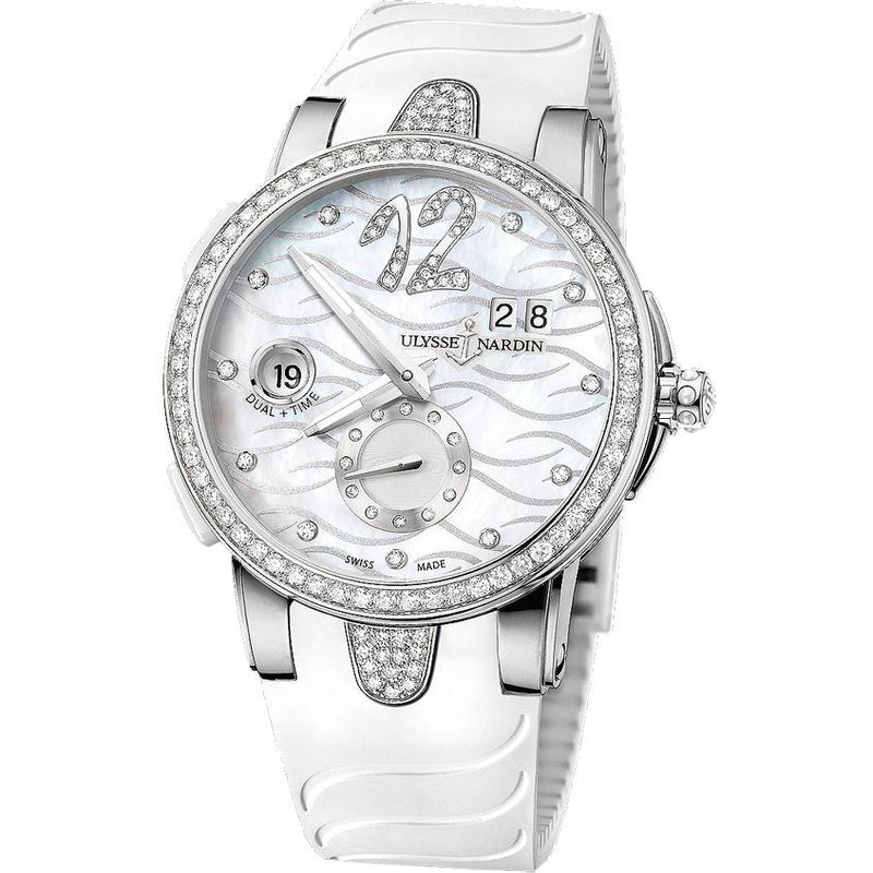 Ulysse Nardin Executive Dual Time 243-10/691 Stainless Steel 40mm Ladies Watch