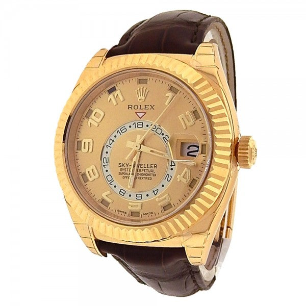 Rolex Sky Dweller 326138 18k Yellow Gold Automatic Champagne Dial - ChronoNation