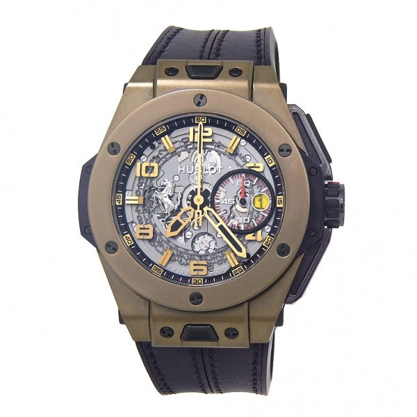 Hublot Big Bang Ferrari 401.MX.0123.VR 18K Magic Gold Auto Skeleton Men's Watch
