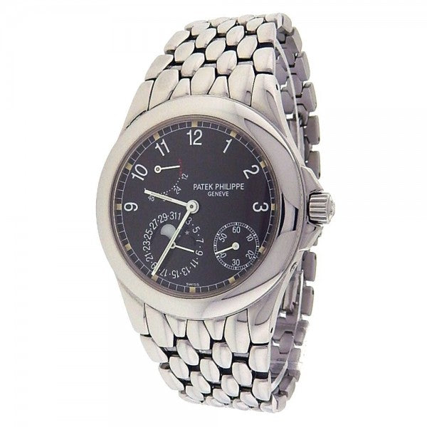 Patek Philippe Power Reserve Moonphase Stainless Steel Automatic Watch 5085