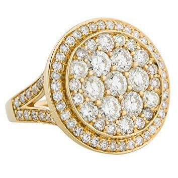 18K Yellow Gold Diamond Circle Ring size 7 (2.86 cttw)
