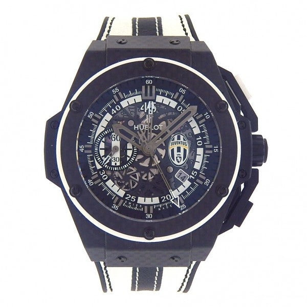 Hublot King Power Juventus Carbon Fiber Automatic Men's Watch 716QX1121VRJUV13 - ChronoNation