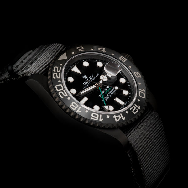 Pro Hunter Stealth Military GMT-Master II 116710LN Men's Watch