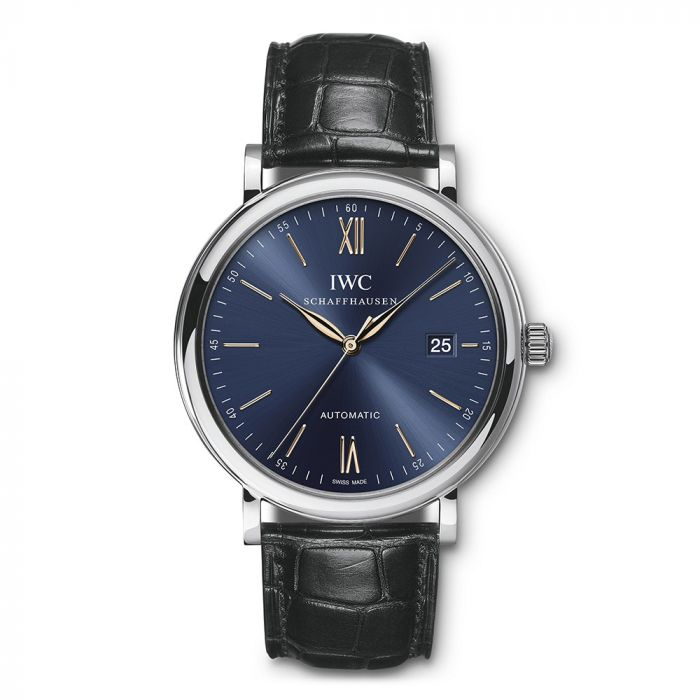 IWC Portofino IW356523 40mm Stainless Steel Blue Dial Men's Watch