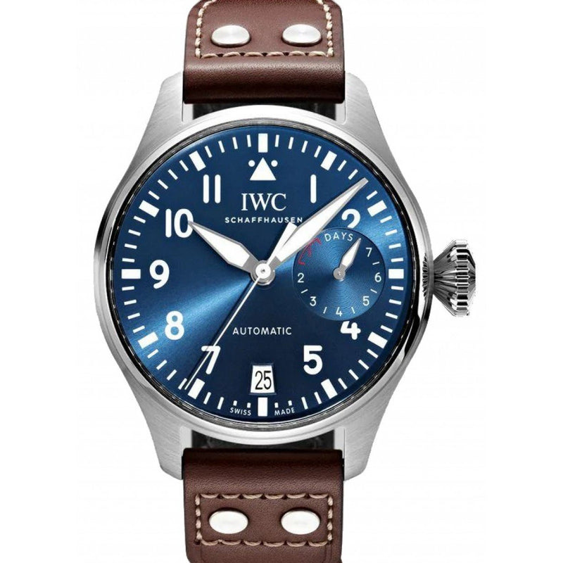 IWC Big Pilot 46mm IW501002 Stainless Steel Blue Dial Men's Watch