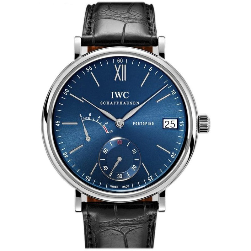 IWC Portofino 8 Day 45mm IW510106 Blue Dial Stainless Steel Men's Watch