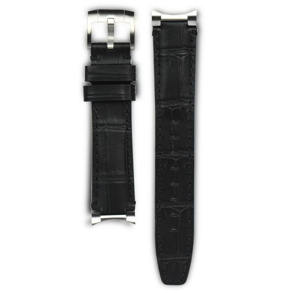 EVEREST STEEL END LINK LEATHER ROLEX GMT CERAMIC TANG BUCKLE