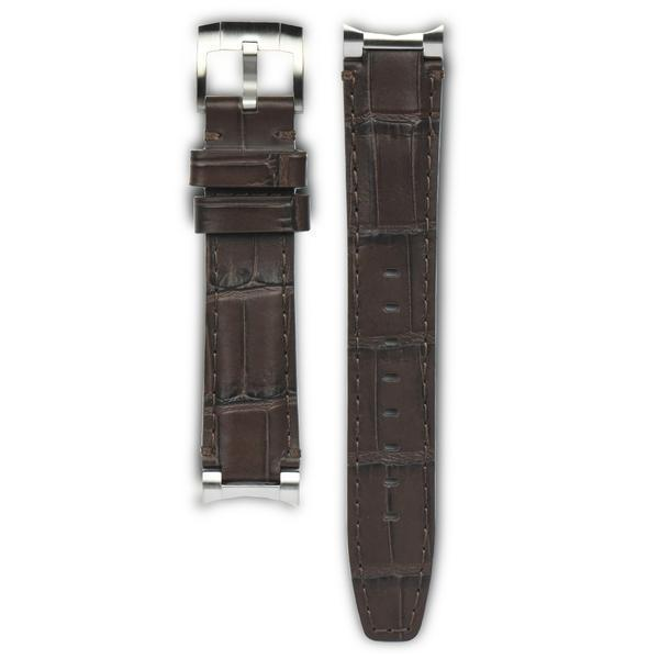 EVEREST STEEL END LINK LEATHER ROLEX EXPLORER I TANG BUCKLE