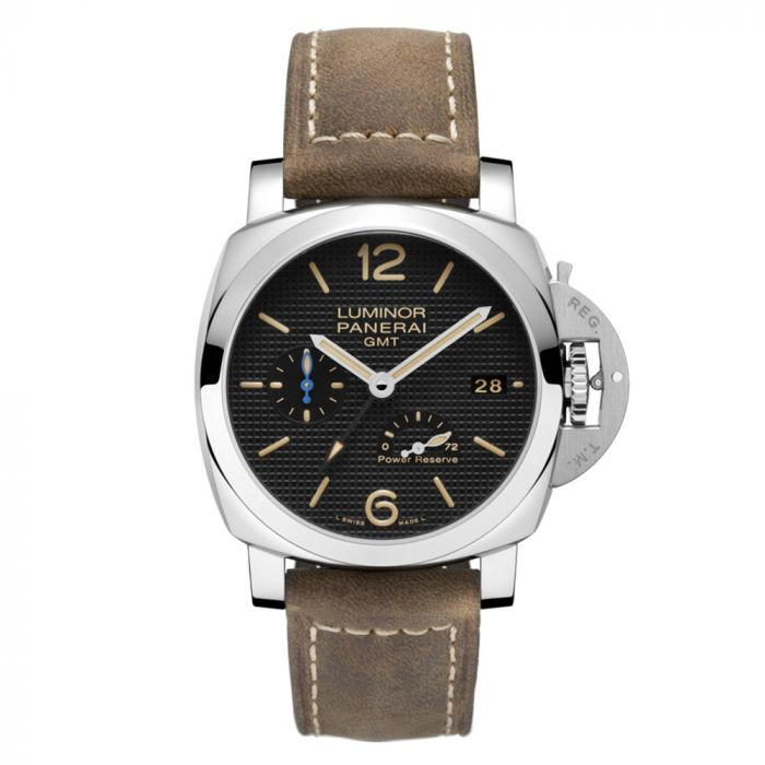 Panerai Luminor 1950 3 day GMT Stainless Steel Automatic Men's Watch PAM01537