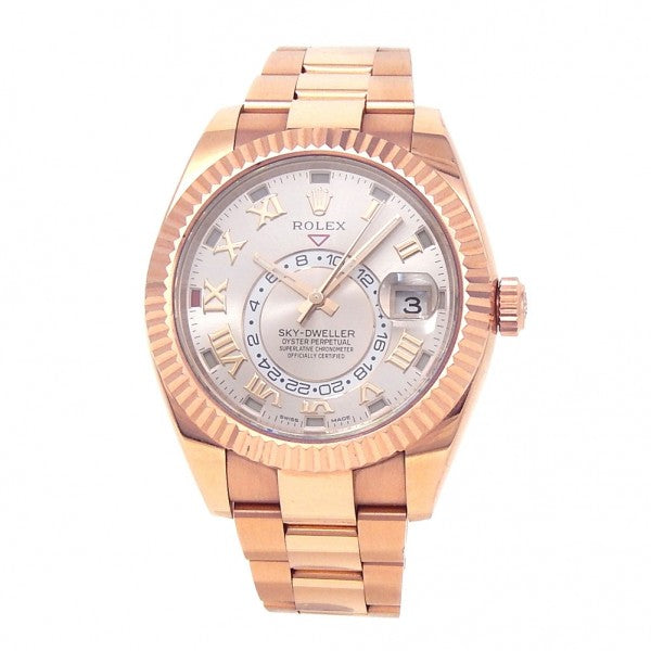 Rolex Sky-Dweller 18k Rose Gold Automatic Men's Watch 326935 - ChronoNation