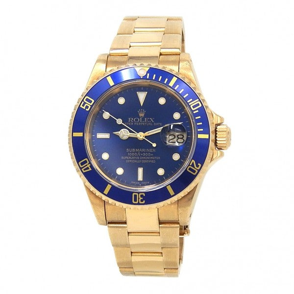 Rolex Submariner 16618 18k Yellow Gold Automatic Men's Watch