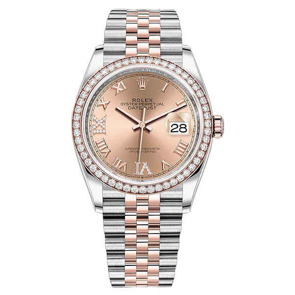 Rolex Datejust 36mm 126281RBR 18K Rose Gold/Stainless Steel Unisex Watch
