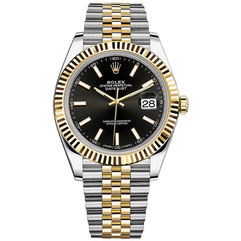 Rolex Datejust 41mm 18K Yellow Gold & Stainless Steel Black Dial 126333