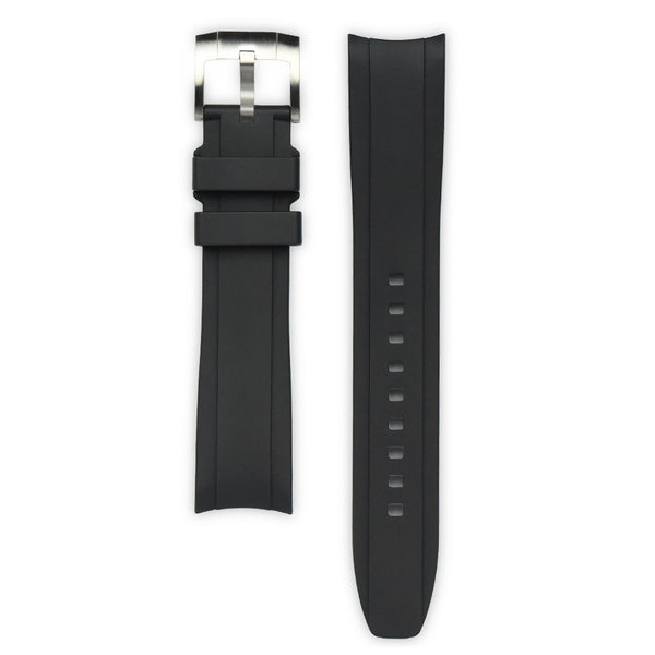 EVEREST CURVED END RUBBER STRAP FOR ROLEX SUBMARINER NO-DATE WITH TANG BUCKLE