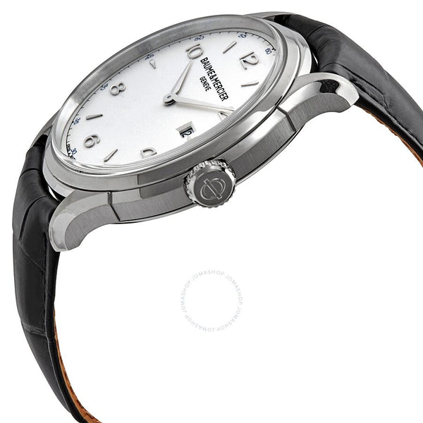 Baume and Mercier Clifton Date Silver Dial 45 Mm Men's Watch 10419