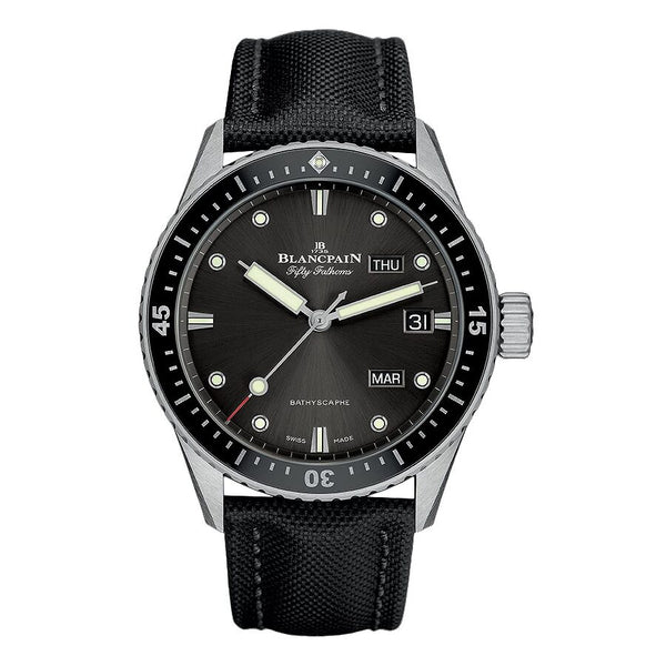 Blancpain Fifty Fathoms Bathyscaphe Annual Calender Automatic Meteor Grey Dial Men's Watch 5071-1110-B52A