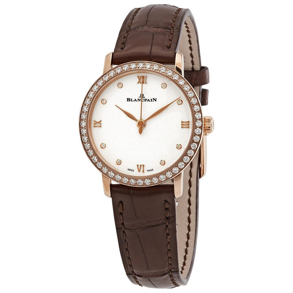 Blancpain Villeret Automatic Diamond White Dial Ladies Watch 6104-2987-55A