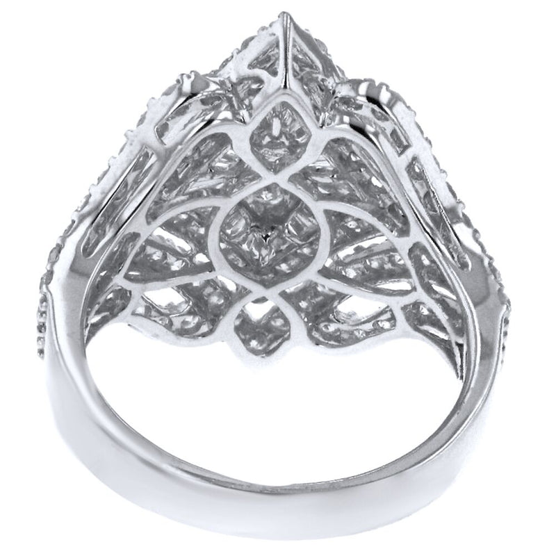 18k White Gold 2.45ct Diamond Embellished Ring