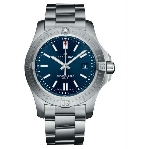 Breitling Colt Blue 44mm a17388101C1A1 Stainless Steel Men's Watch