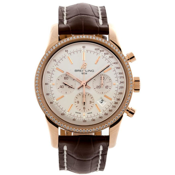 Breitling Transocean Chronograph 43mm RB015253/G738 18K Yellow Gold Men's Watch